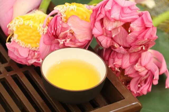 Hoa sen dùng để ướp trà