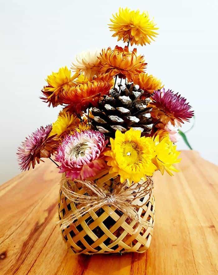 Hoa bất tử khô rất được ưa chuộng trong trang trí và làm quà tặng